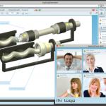 Screenshot der Webconferencing-Software explicia