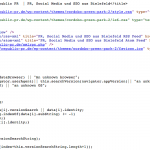 Screenshot Quellcode Webseite