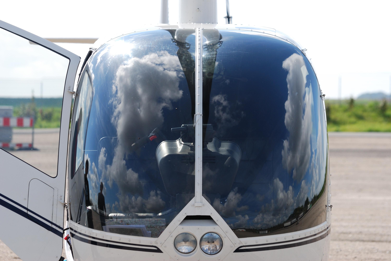 Hubschrauber-Cockpit