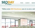 SEO DAY Screenshot der Webseite
